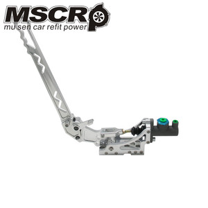 Image 2 - Universal Adjustable Aluminum Vertical Hydraulic Drifting Hand Brake With Special Master Cylinder S14 S13 silver