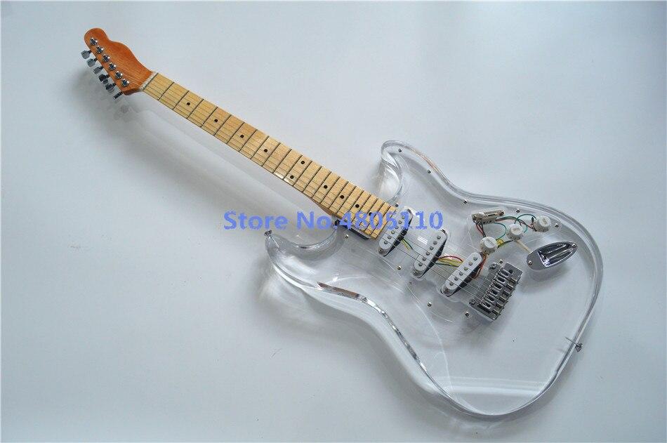 Firehawk nouvelle guitare électrique transparente en cristal acrylique de haute qualité