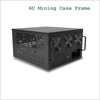 6U Mining Server Chassis With 6 Fans Mining Case Frame Fit For 6 8 Graphics Card
