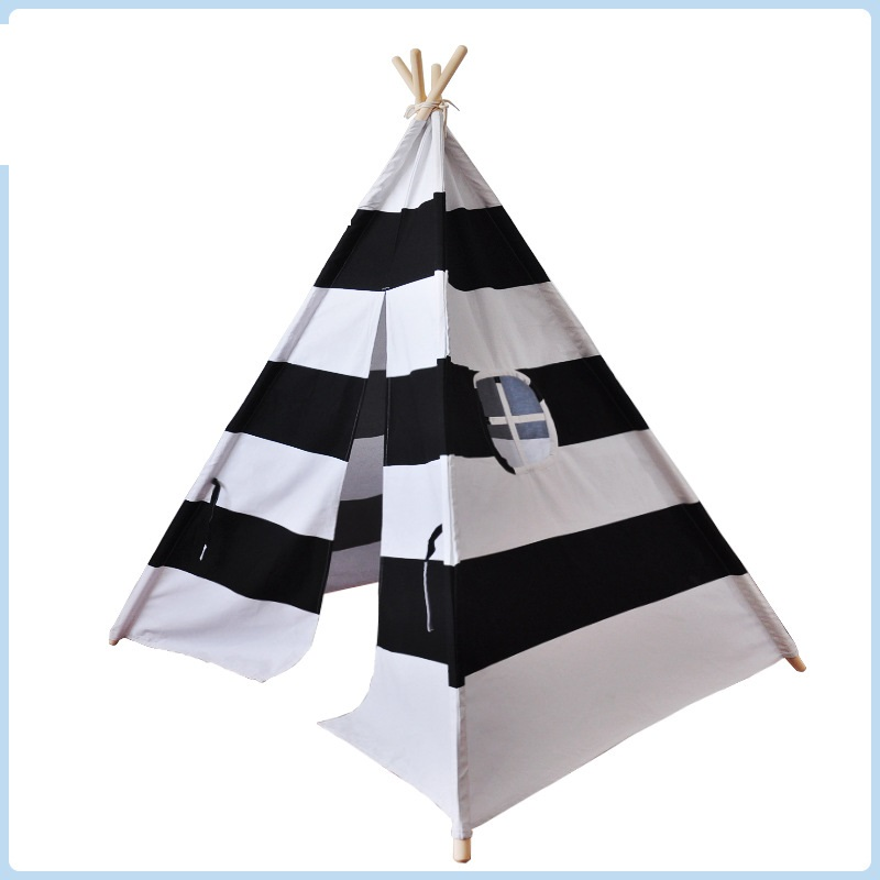 Children tipi indian tent cotton canvas teepee kids play tent striped tipi for baby toys castle room children tipi canvas cotton indian tent kids play house teepee baby game room playhouse boys and girls teepees toy tent page 6