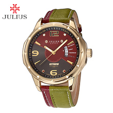 Top Julius Man Men s Male Wrist Watch Japan Quartz Hours Auto Date Hit Mix Color