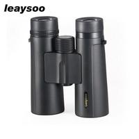 LEAYSOO 8X42 Professional Binocular Folding Waterproof MC Green Film For Adult Telescope Bak4 Prism Optics telescope