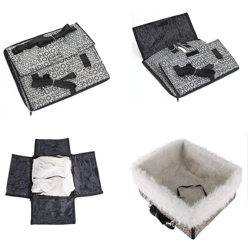 Pet Dog Bed Warming Dog House Soft Material Nest Dog Baskets Fall Winter Warm Kennel For Cat Puppy Car Travel Fold Removable