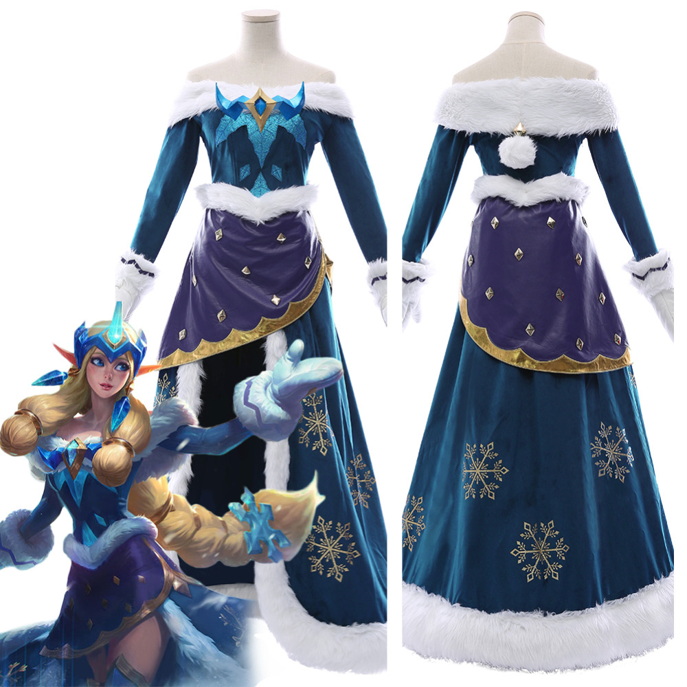 Game LOL Star Guardian Soraka Cosplay Costume Outfit Soraka Costume Dress For Adult Women Girls Halloween Carnival Costumes