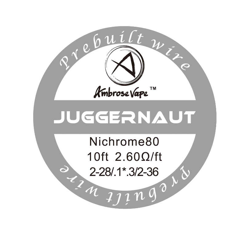Ambrose 3 м/рулон Juggernaut/супер инопланетная катушка нихромовая проволока предварительно построенные катушки нагревательная проволока для E-cig RDA RBA RTA Модифицируемый испаритель
