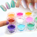 SWEET TREND 1g/Bottle New Colorful Mermaid Effect Nail Glitter Nail Art Decoration Tip Sparkly Powder Dust Nail Art Tools M1-12