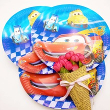 10pcs/set 7inch  Lightning Mcqueen Disposable Plate Children Party Supplies Kid Birthday For Decoration