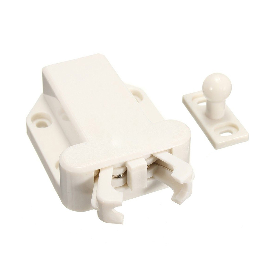 4X Push To Open Beetles Drawer Cabinet Latch Catch Touch Release Cupboard White push to open beetles drawer cabinet latch catch touch release kitchen cupboard new arrival high quality