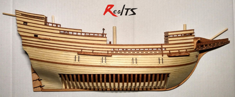 RealTS Scale 1/96 Mayflower section model ship kit wood sailing ship kit laser cut boat kit Wooden Ship Kits Educational Toy цена