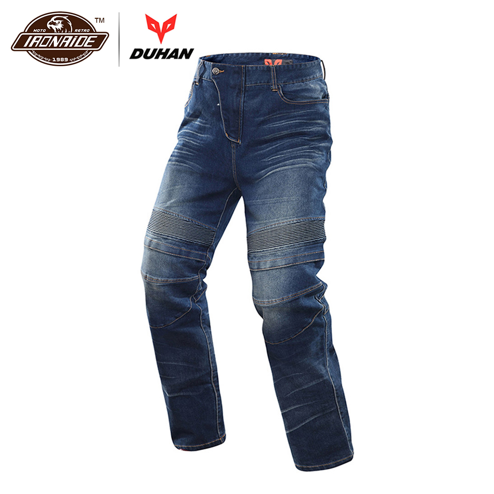 DUHAN Motorcycle Jeans Motocross Moto Pants Motorcycle Pants Protective Gear Jeans Trousers CE Certification Protectors for Men цена