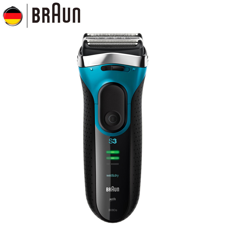 Braun Series 3 Electric Shaver 3080S Electric Razor Blades Shaving Machine Rechargeable Electric Shaver Washing For Men