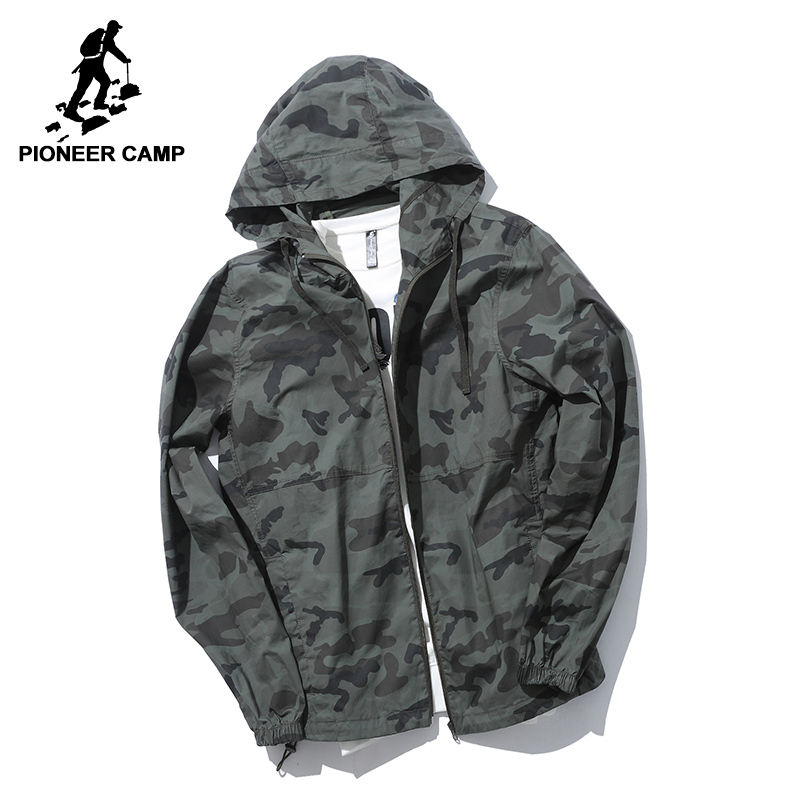 Pioneer Camp New camouflage jacket coat men brand clothing fashion outerwear male top quality stretch military coat AJK705242