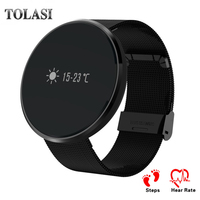 TOLASI Leather bracelet Smart Watch fitness for CF006 Heart Rate Blood Pressure Monitor Pedometer Sports Watch for Android