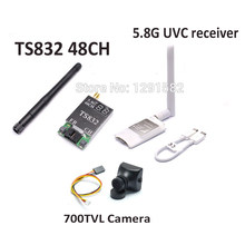 Mini 5.8G FPV Receiver UVC Video Downlink OTG VR Android Phone + TS832 5.8G 600mW 48 Channels Wireless Transmitter Module(China)