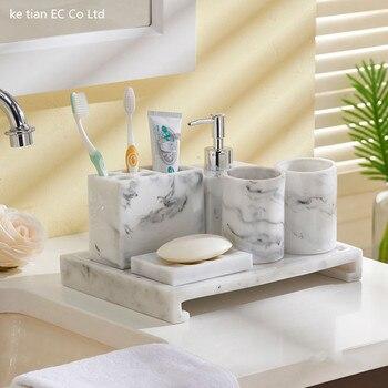 Einfache kreative badezimmer 5 teilig bad lieferungen kit bad waschen tasse hochzeit geschenk waschen set
