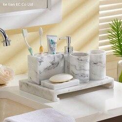 Proste kreatywny łazienka 5 sztuka zestaw akcesoria do łazienki zestaw łazienka kubek do mycia prezent ślubny zestaw łazienkowy