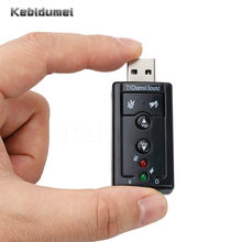 Kebidumei 3pcs Sound Card Usb 5.1 Channel 3D Audio Adapter with 3.5mm Headset MIC for PC Desktop Notebook(China)