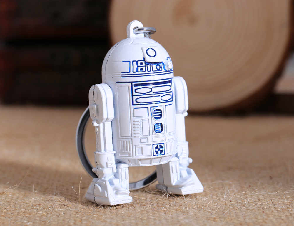 3D White Star Wars Keychain Robot R2D2 Metal Falcon Darth Vader Key Ring Chain Men Gift Chaveiro Porte Clef Jewelry llavero