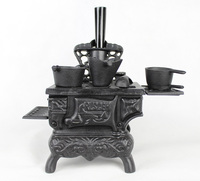 Cast Iron Fireplace Model Heavy Antique Replica Fireplace Retro Home Bar Pub Club Table Decorations Metal Crafts Free Shipping