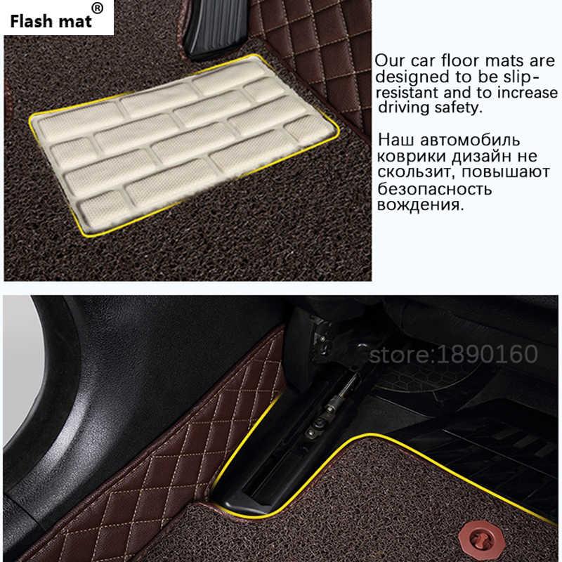 Tapis de sol de voiture en cuir pour tapis Flash pour modèle de voiture 98% pour Toyota Lada Renault Kia volkswagen Honda BMW BENZ accessoires tapis de sol