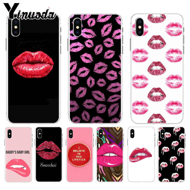 Yinuoda Sexy Girl Red Lips Printing Drawing Protection Phone