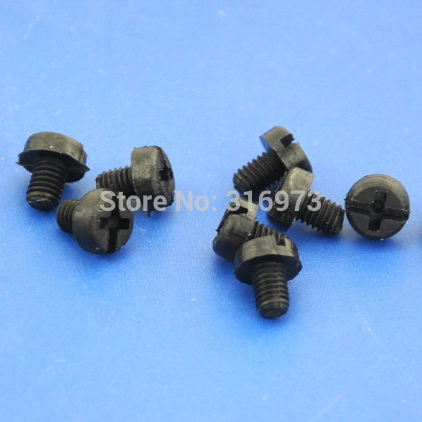 (50 pcs/lot ) <font><b>M3x4mm</b></font> Black Nylon Screw. image
