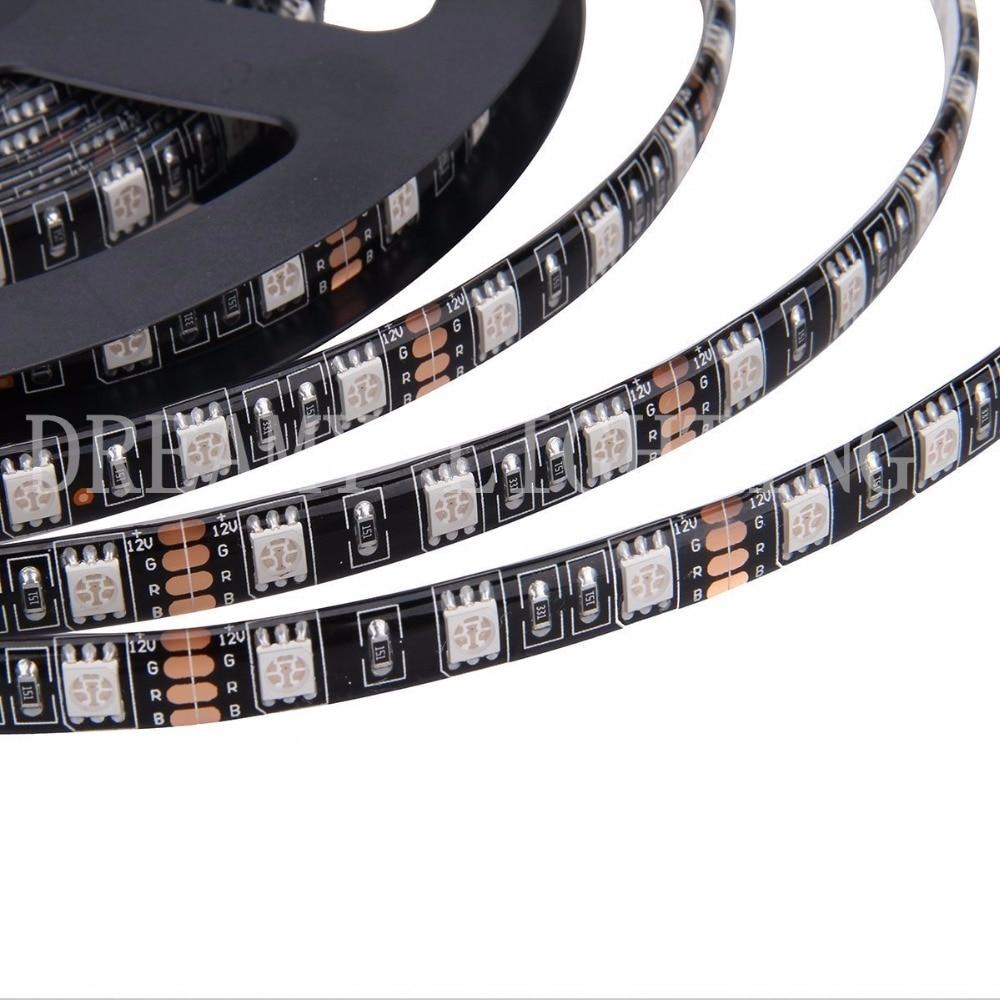 tira de luz led negro pcb 5050 impermeable ip65 300led 5m dc 12v - Iluminación LED - foto 2