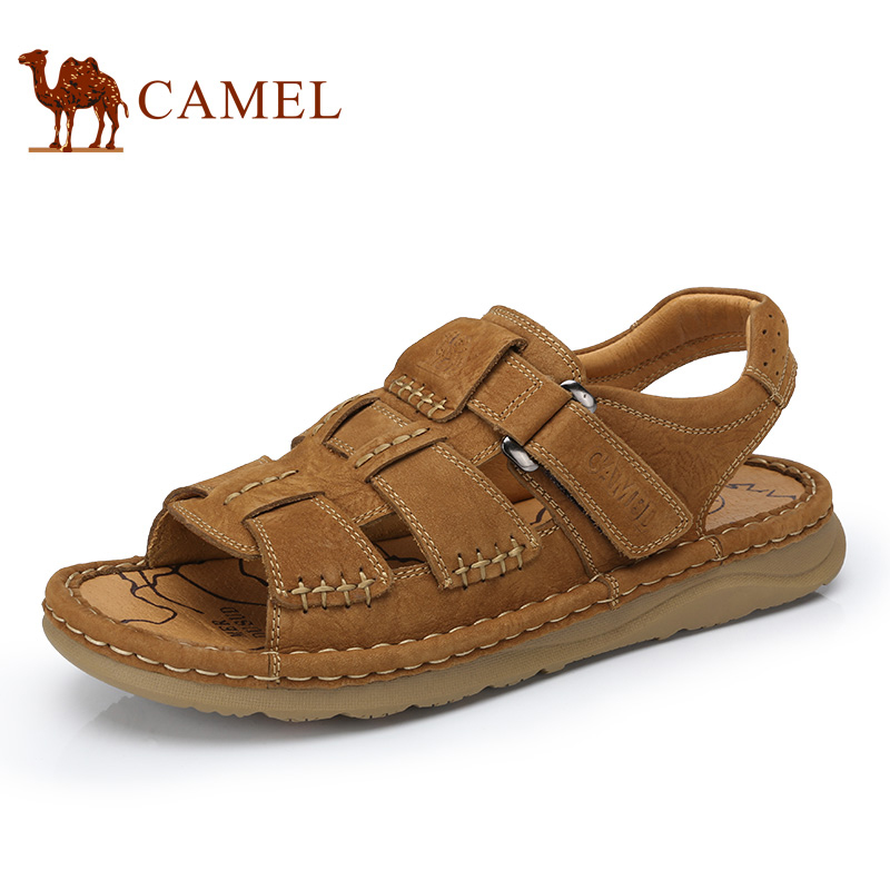 Camel 2017 Spring New Men s Casual Sandals Cool Comfortable Wild Frosted Leather font b Male