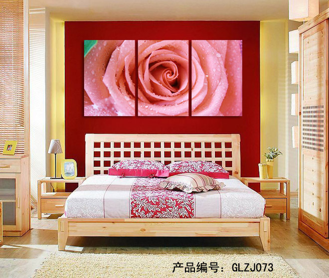 3Panels Flower Home Decoration Living Room Wall Painting HD Wall Art ...