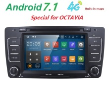 2Din Car DVD Multimedia Video Player For Skoda Octavia Steering-Wheel Android GPS Navigation Radio Touch Screen Bluetooth