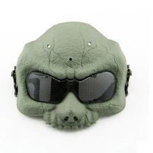 Army training Airsoft Paintball Tactical Protection Helmet Army Outdoor sports Skull Face Protective Mask