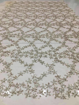 stock 5yards  HL242#  Picture color   flash powder lace fabric for bridal wedding dress/sawing Free shipping