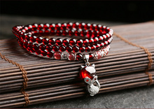High Quality S925 Silver Garnet Bracelet Fashion Perfect Show Woman Elegant Classic Jewelry Good Gift
