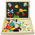 candice guo! hot sale educational wooden toy magnetic puzzle fantastic wooden easel colorful gift 1 pc