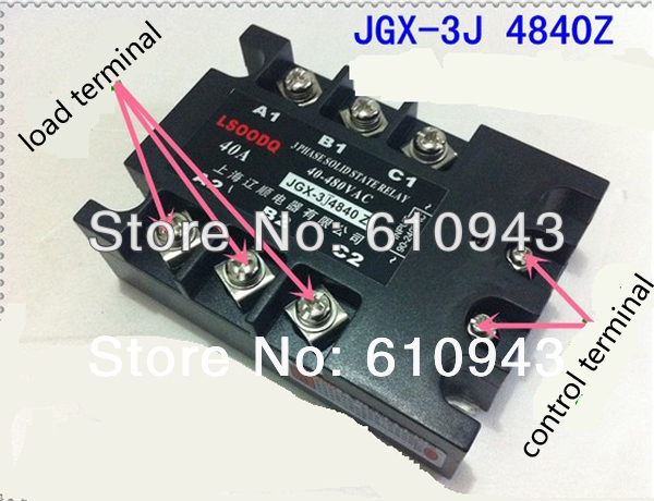 JGX-3J-4840Z  load voltage 40-480VAC control voltage 90-240VAC  Three phase Solid state relay SSR relay Free shipping jgx 3 4860z 60a 40 480vac 4 32vdc dc to ac three phase solid state relay ssr relay free shipping