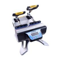 Hohe Qualität Mini Automatische Doppel Station Becher Hitze Presse Maschine