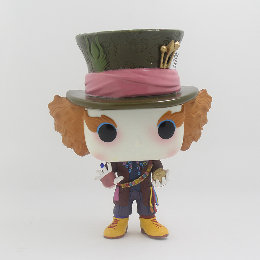 HuCooCoo Alice in Wonderland Figure Mad Hatter Action Figures Toys Collectible Model Toy PVC Adult Kids Figura Pop Juguetes 12cm autonomous design handmade gifts for girls doll accessories evening suit wedding dress clothes for barbie doll bbi00508