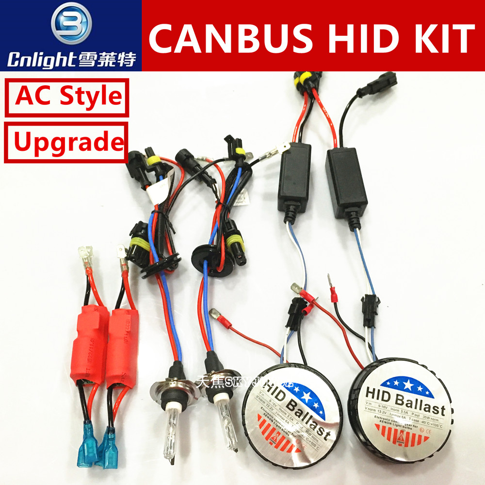 1 set 12V 35W all in one hid canbus kit mini for all with Cnlight hid xenon canbus kit H1 H3 H7 H8 H9 H10 H11 9005/6 H27 canbus new generation all in one lower beam error free h7 hid lights for chevy malibu