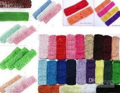 400 шт 1,5 дюймов вязанные крючком повязки для девочек U pick цветные Повязки На Голову бант для волос для девочек повязка на голову с бантом
