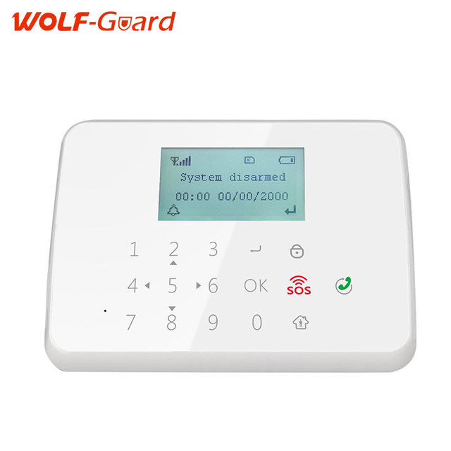 WOLF-Guard Android IOS app remote control 433mhz wireless smart burglar GSM Alarm Security System with anti-tamper function