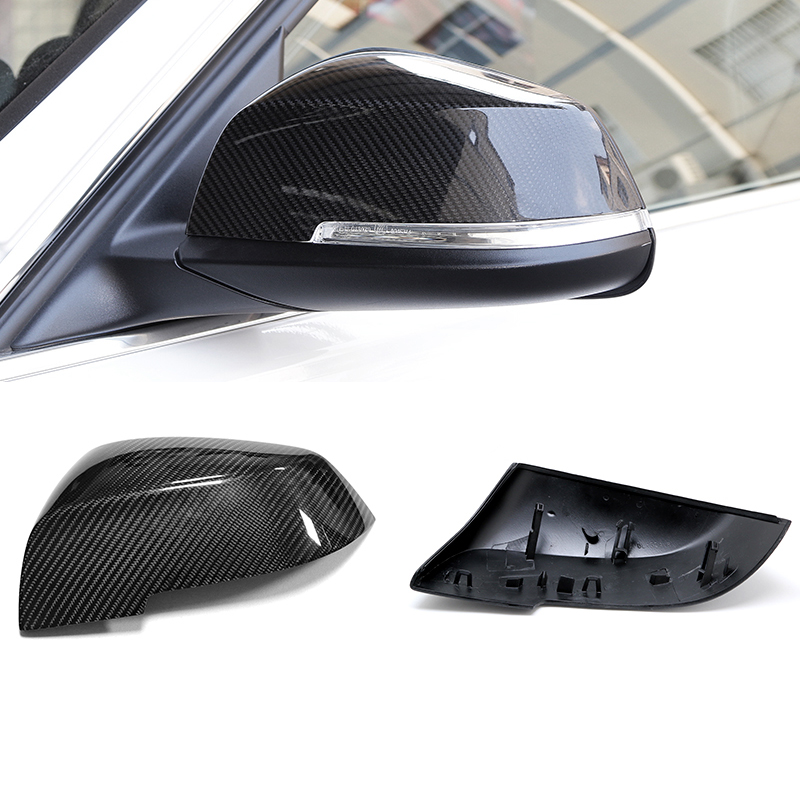 2X 100% Real Carbon Fiber Rearview Mirror Replace Cover For BMW X1 E84 & 1 4 Series F20 F22 F23 F30 F31 F34 F32 F33 F36