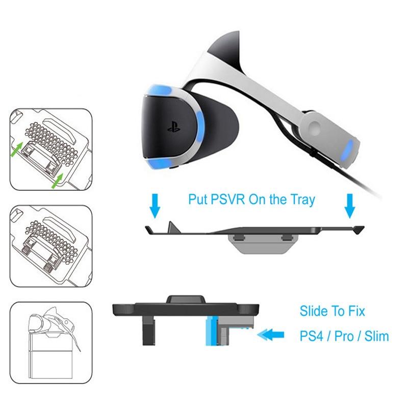 Купить с кэшбэком VR Glasses Tray Holder Support Stand Bracket Base Storage For PS VR Glasses Slide to Fix For Playstation 4 ,PS4 Pro,PS4 Slim