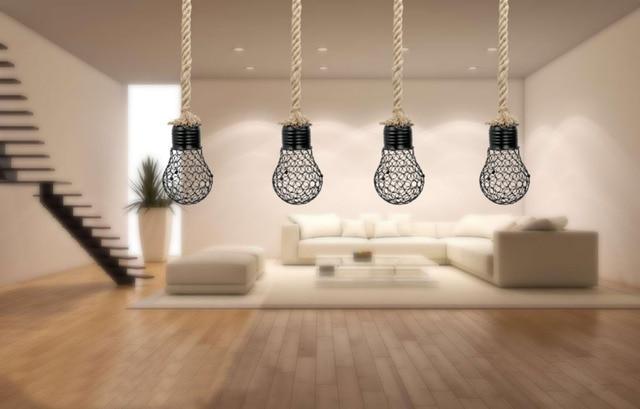 Plafoniere Industriali Vintage : Vintage retrò arte del ferro sferica griglia plafoniera lampada a