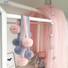 Украшение для детской спальни купольная москитная сетка плетеные шарики висячие украшения Детская комнатная палатка балдахин украшение Детский Комплект постельного белья