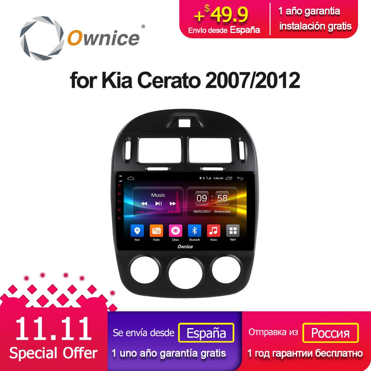 10.1 Ownice C500+ G10 Android 8.1 car head unit 8 Core for Kia Cerato 2007 - 2012 radio gps navigation palyer 2G RAM 4G LTE ownice c500 4g sim lte octa 8 core android 6 0 for kia ceed 2013 2015 car dvd player gps navi radio wifi 4g bt 2gb ram 32g rom
