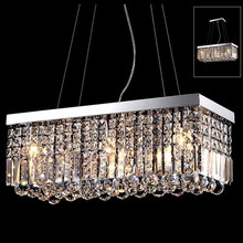 Simple modern K9 crystal chandelier led restaurant living room crystal chandelier rectangular lamp a variety of sizes available(China)