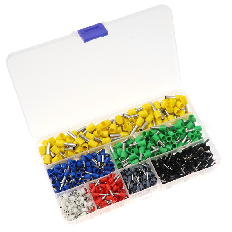 700PCS Insulated Terminal Block Cord End Wire Connector Electrical Crimp Terminato E6012 E2508 E4009 E0508 <font><b>E1008</b></font> E1508 E7508 image