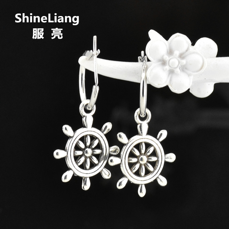 2018 Drop Earrings for women Tin Alloy material silver Clip on the ear No pierced Fashion brand Christmas gifts for girls female