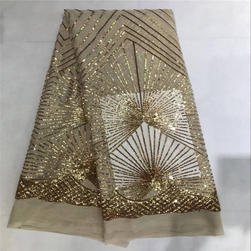Champagne Gold Sequin French Nigerian Laces Fabric Heavy Quality Tulle African Laces Fabric With Sequins For Lady Wedding 30Champagne Gold Sequin French Nigerian Laces Fabric Heavy Quality Tulle African Laces Fabric With Sequins For Lady Wedding 30