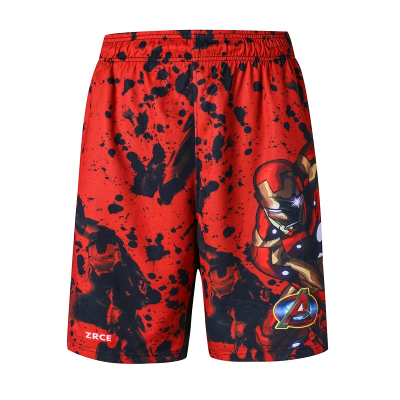 New Fashion Men Sporting Beaching Shorts Iron man Shorts Elastic Waist Gyms Shorts Men Professional Bodybuilding Short Pants
